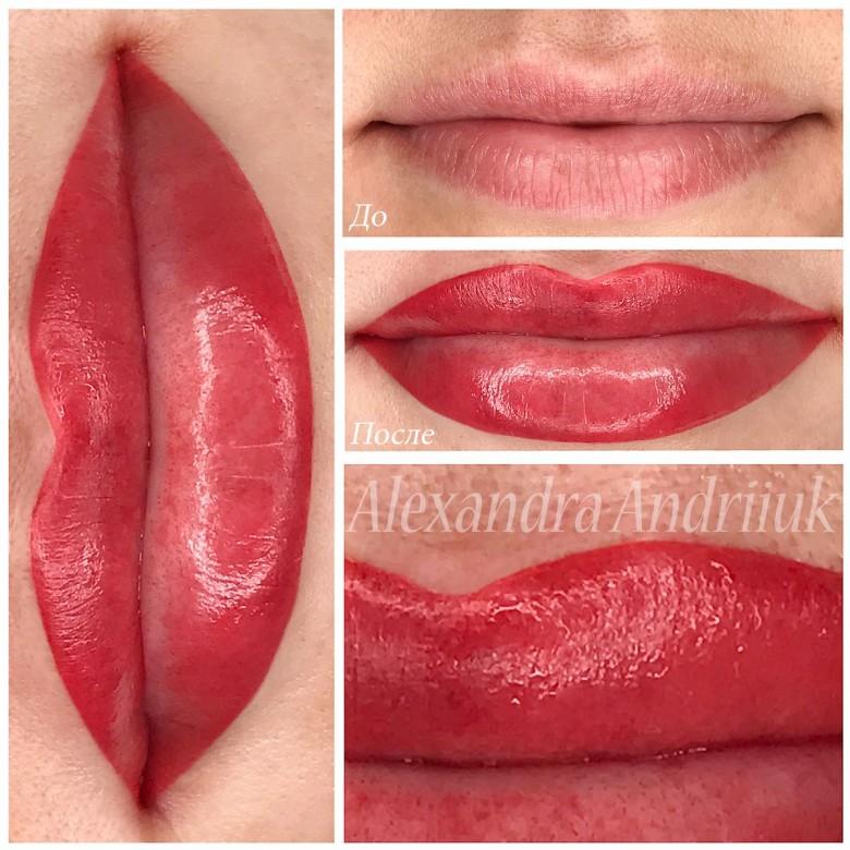 Александра, татуаж губ